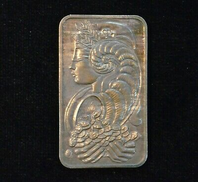 Pamp Suisse Chiasso Toned 1 Troy Oz Ounce 999 Fine Silver Bar Very Rare Vintage