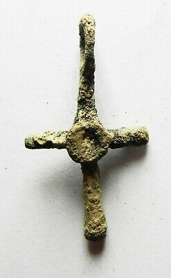 Zurqieh - As12441-  Ancient Byzantine Bronze Cross. 600 A.d - Jordan