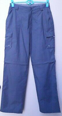 Mountain Warehouse Convertible Pants Kids Youth Size 13 Grey Hiking Quick Drying