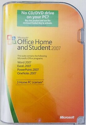 Microsoft Office Home & Student 2007 Word Excel Power Point & OneNote