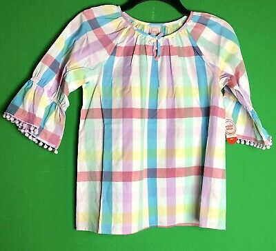 Wonder Nation Woven Girls Top 3/4 Bell Sleeves NWT