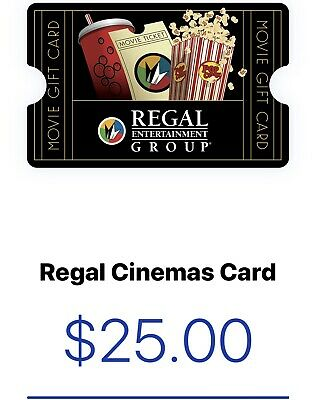 Regal Cinema Gift Card $25  Fast Email Delivery.