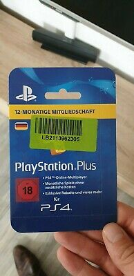 PlayStation plus live Card Network 365 Tage 12 Monate 1 Jahr *NEU* *TOP*