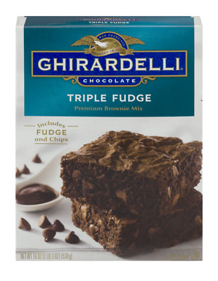 GHIRARDELLI TRIPLE FUDGE BROWNIE MIX - USA IMPORT 538g - squares