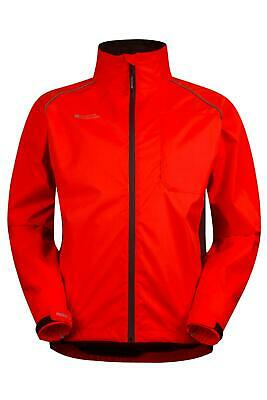 Mountain Warehouse Adrenaline Mens Bike Jacket Coat in Red with Pit Zips - XS