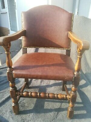 19th Century solid wood Antique carver chair