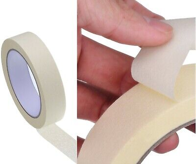 NEW MASKING TAPE INDOOR OUTDOOR DIY PAINTING DECORATING EASY TEAR 18MM x 50M