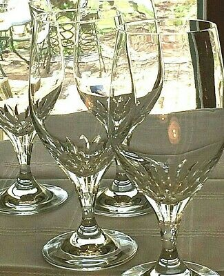 "Set of 4 SCHOTT ZWIESEL Revue Pattern 7.5"" Iced Tea Glasses Wine Water Goblets Z"