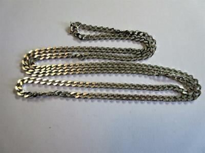 "VINTAGE STERLING SILVER 30"" long CURB LINK NECKLACE, CHAIN - 24.5g!"