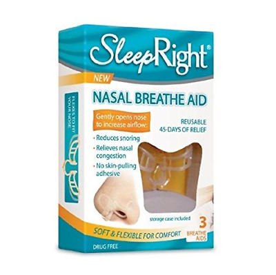 SLEEP RIGHT Nose Nasal Breathe Aid Stop Snoring Breath Breathing Case  Boxes
