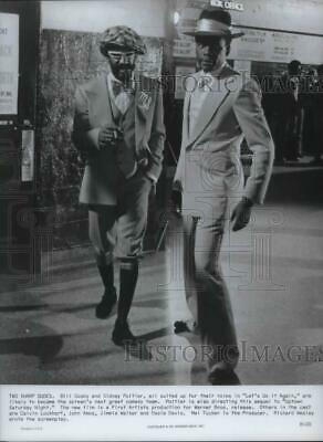 1975 Press Photo Bill Cosby and Sidney Poitier in Lets Do It Again - orp02160