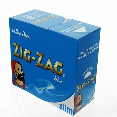 1 5 10 25 50 Zig Zag King Size Slim Blue Smoking Rolling Papers