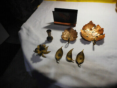 Lot of 8 Copper and Brass Household/Decorative Items