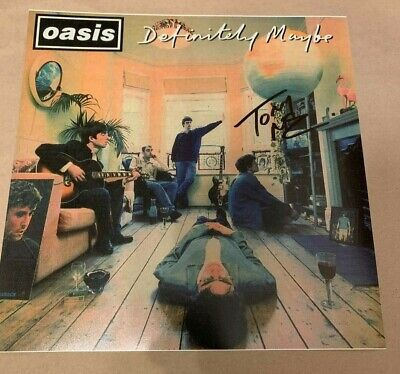 OASIS  -  DEFINITELY MAYBE -  TONY McCARROLL -  SIGNED LP  12X12  PHOTO   UACC