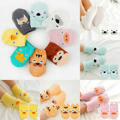 Baby Infant Ankle Socks Newborn Cotton Boys Girls Cartoon Printed Anti-slip Sock