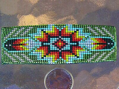 Beautiful Large Navajo Indian Handmade Beaded Barrette Eve Nathaniel
