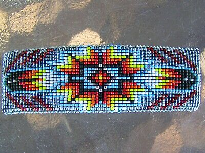 Beautiful Large Navajo Indian Handmade Beaded Barrette Eva Nathaniel