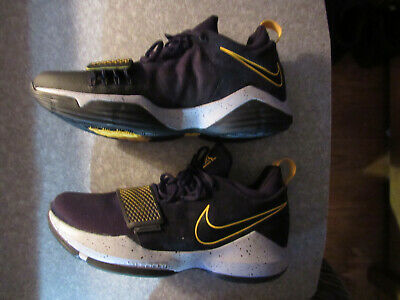 302e02969099 Nike PG 1 Paul George Basketball Shoes Black Gold 878627 006 Mens Size 10