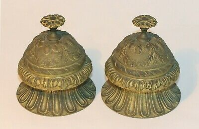 Pair Of 19Th C Gilt Metal Or Bronze Curtain Drapery Hold Backs