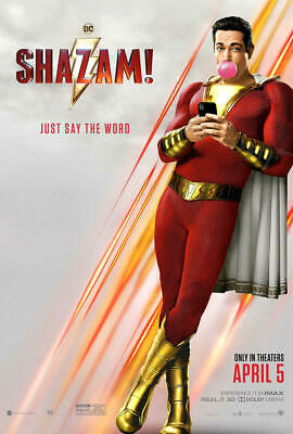 SHAZAM! 2019 Original DS 2 Sided 4x6 US Bus Shelter Poster Zachary Levi M Strong