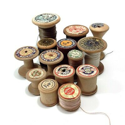 Lot of Vintage Wooden Cotton / Thread Spools