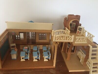 Sylvanian Library And School with Accessories
