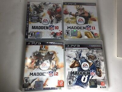 LOT  of 4 PS3 MADDEN NFL FOOTBALL GAMES 10,11,12,13, Sony Playstation 3