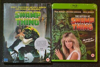 Swamp Thing + The Return of Swamp Thing Blu-Ray UK Edition Brand New & Sealed