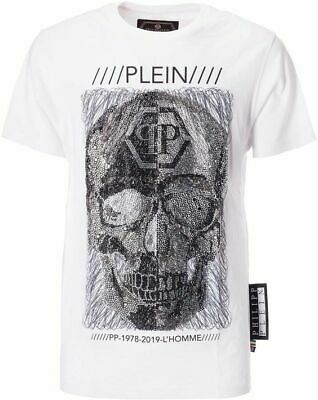 e161ef92b3 PHILIPP PLEIN MEN'S T-shirt PLATINUM CUT black (147PP) - £373.35 ...