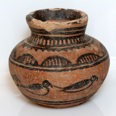 Indus Valley Terracotta Pot , Decorated , Circa 1900-1000 Bc