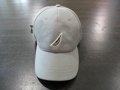 83ac99d8 VINTAGE Nautica Strap Back Hat Cap Gray Blue Spell Out Sailing Logo Dad Hat  Mens