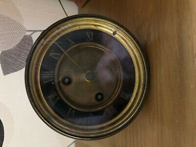 vintage brass mantle clock  movement  for parts spares