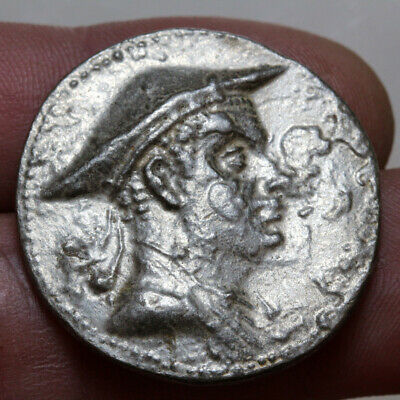 Bactria Indo Greek coin  Antimachus I, Silver tetradrachm, c. 174-165 BCE