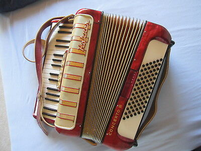Hohner Concerto III Akkordeon(fisarmonica)1950er,Made by M.Hohner Germany+Koffer