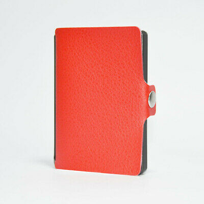 Light Wallet Cards & Money Holder Red | I With Black Techno-Resin Frame And Clip