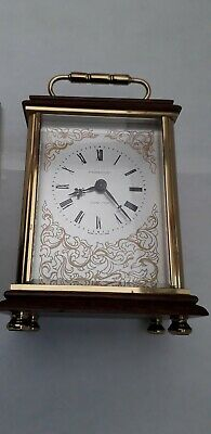 Vintage Rare Harwood Dunster In Somerset? Weiss Design Wood Brass Carriage Clock