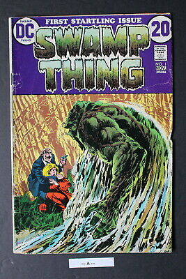 SWAMP THING #1 ORIGIN 1st Dr Alec Holland 1972 WRIGHTSON JLD New TV Show GD+ 2.5