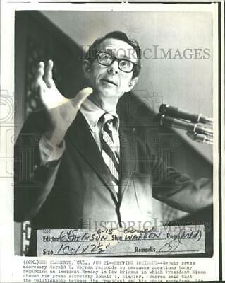 1973 Press Photo Press Secretary Gerald L Warren Journ - RRV33279
