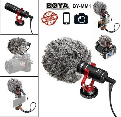 BOYA BY-MM1 Cardiod Shotgun Video MIC Video for iPhone Camera Microphone BY-MM1