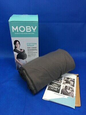 Authentic Moby Wrap Classic 100% Cotton Baby Carrier Slate Grey