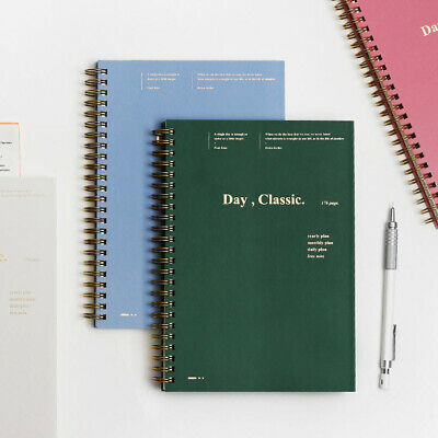 Classic Daily Planner Diary Scheduler Journal Schedule Book Notebook Organizer