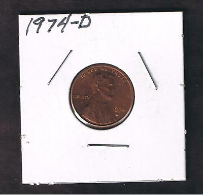 1974-D Lincoln Memorial One Cent Penny Coin Nice AU