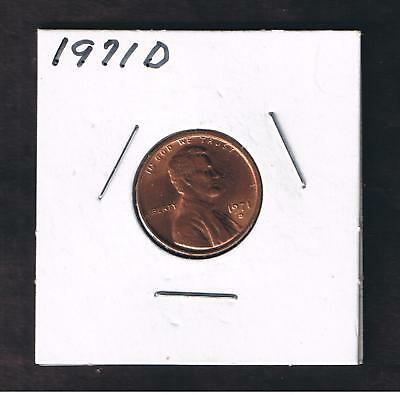 1971-D Lincoln Memorial One Cent Penny Coin Nice AU
