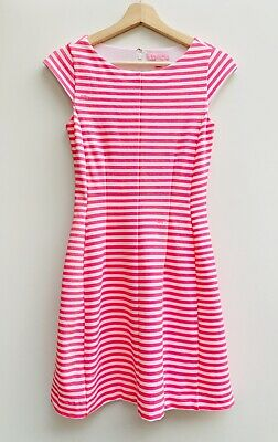 65c1e6d9cab1ac Lilly Pulitzer Briella Splash Pink Chin Chin Stripe Ponte Dress Style 49387  - XS