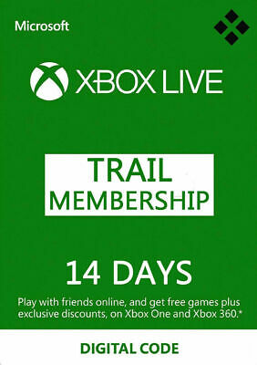 XBOX LIVE 14 Day GOLD Trial Membership Code 14 Days 2 Weeks