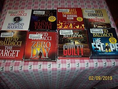 Large Lot Cd, David Baldacci, Michael Connelly, Target, Guilty, Escape, Crossing