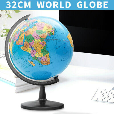 "13"" Rotating World Map Globes Ocean Geographical Earth Desktop Globe Decoration"