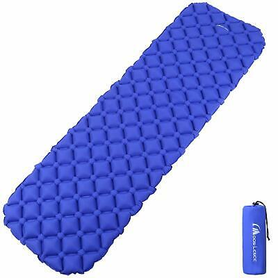 "KLYMIT Static Luxe Sleeping Pad Lightweight XLarge 73"" x 22'' Lifetime (Blue)"