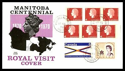 Canada Fdc 1970  Manitoba Centennial Royal Viist Cole Unsealed Fdc