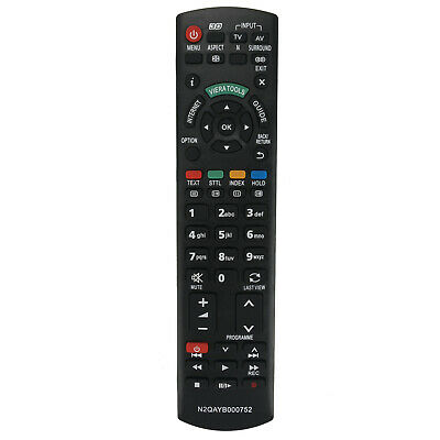 New Replaced Remote Control N2QAYB000752 for Panasonic HD TV TX-L32ET5 TX-L42ET